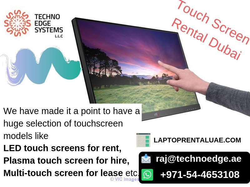 Touch Screen Rental Dubai - Best offers at Techno Edge Systems LLC afula